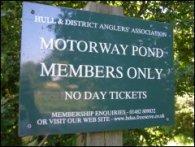 Motorway Pond Notice Board