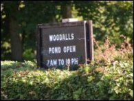 Woodalls Pond open 7am to 10pm