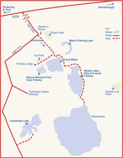 Wykeham Lakes Map
