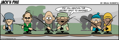 Jack's Pike Fishing Comic Strip