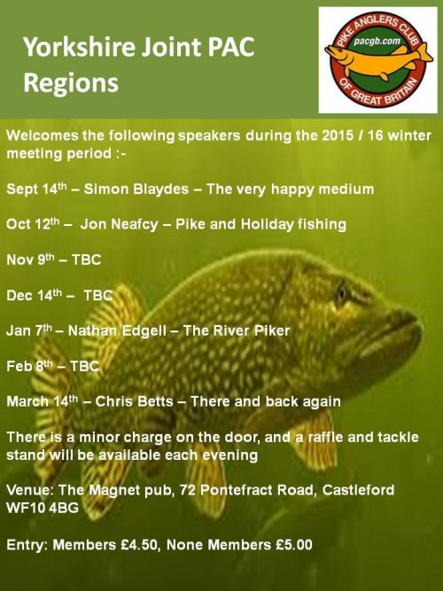 Yorkshire Joint PAC Meetings 2015-16